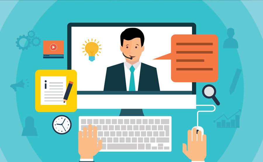 تصویر نمادین گرافیکی از آموزش آنلاین